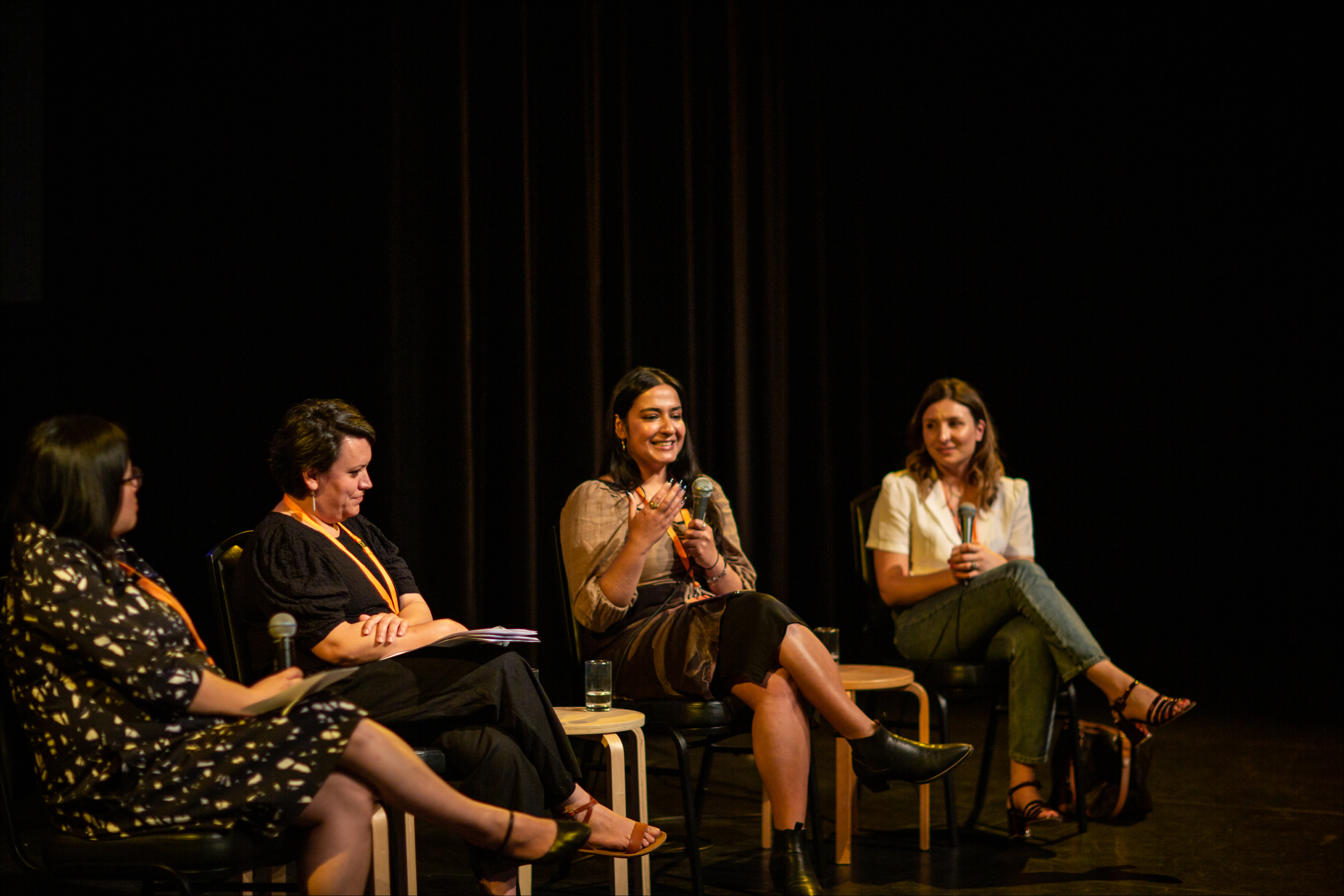 Sheila Pham, Kiriaki Koubaroulis, Audrey Newton and Sarah Ayoub in Bankstown Art Centre's panel Mother Tongues